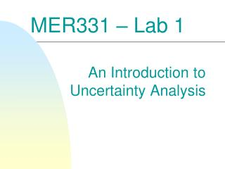 MER331 � Lab 1