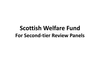 Scottish Welfare Fund For Second-tier Review Panels