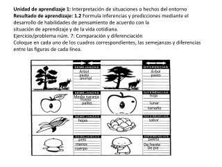 Unidad de aprendizaje 1:  Interpretación de situaciones o hechos del entorno