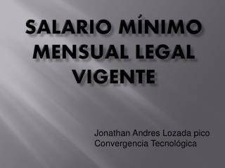 Salario mínimo mensual legal vigente