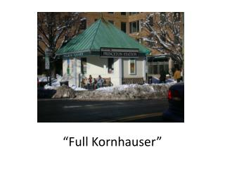 �Full  Kornhauser �
