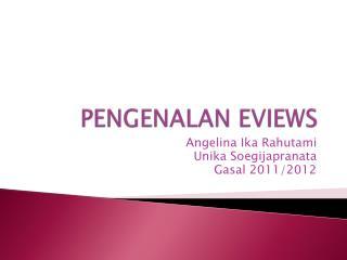 PENGENALAN  EVIEWS