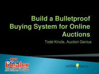 Build a Bulletproof Buying System for Online Auctions