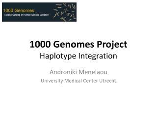 1000 Genomes Project  Haplotype Integration