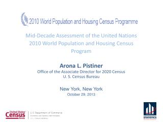 Mid-Decade Assessment of the United Nations 2010 World Population and Housing Census Program