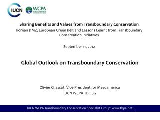 Global Outlook  on Transboundary Conservation