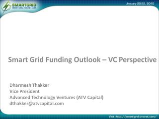 Smart Grid Funding Outlook – VC Perspective