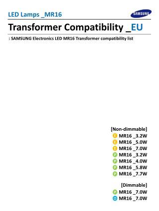 Transformer Compatibility _ EU
