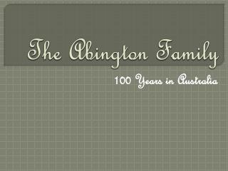 The Abington Family