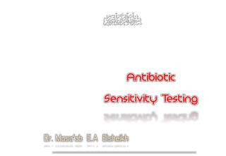 Antimicrobial Susceptibility test