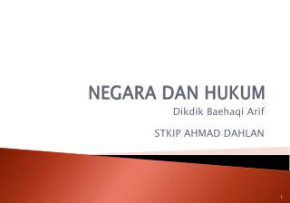 NEGARA DAN HUKUM