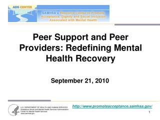 Peer Support and Peer Providers: Redefining Mental Health Recovery