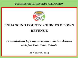 COMMISSION ON REVENUE ALLOCATION