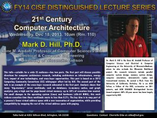 FY14 CISE DISTINGUISHED LECTURE SERIES