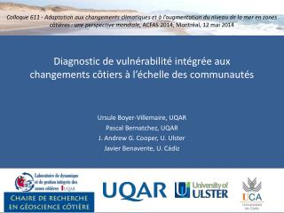 Diagnostic de vulnérabilité intégrée aux changements côtiers à l'échelle des communautés