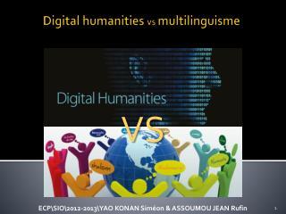 Digital  humanities vs  multilinguisme