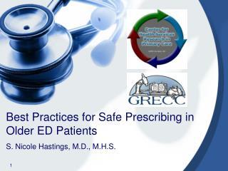 Best Practices for Safe Prescribing in Older ED Patients