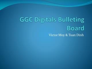 GGC Digitals Bulleting Board