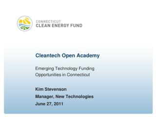 Cleantech  Open Academy