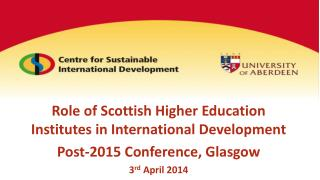Role of Scottish Higher Education Institutes in International Development