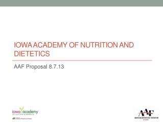 Iowa Academy of Nutrition and dietetics
