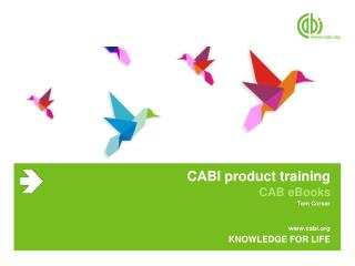 CABI product training