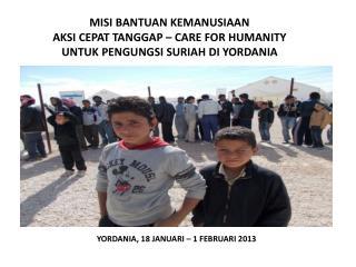 YORDANIA, 18 JANUARI – 1 FEBRUARI 2013