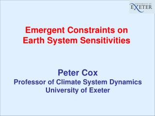 Emergent Constraints on  Earth System Sensitivities