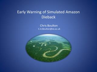 Early Warning of Simulated Amazon Dieback