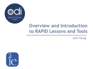 Overview and Introduction to RAPID Lessons and Tools