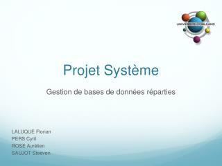 Projet Syst�me