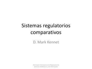 Sistemas regulatorios comparativos