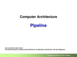 Computer Architecture Pipeline
