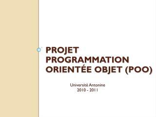 Projet Programmation orientée objet (POO)