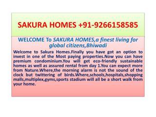 SAKURA HOMES +91-9266158585