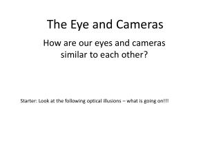The Eye and Cameras