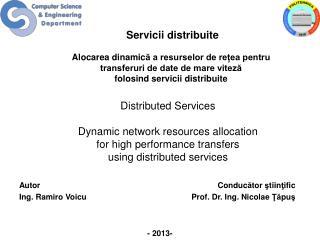 Servicii distribuite