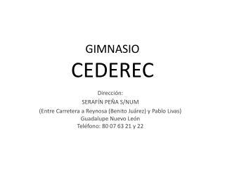 GIMNASIO  CEDEREC