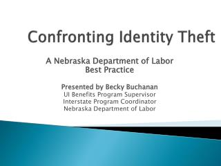 Confronting Identity Theft