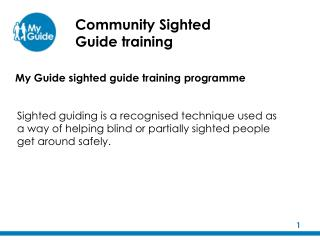 Community Sighted Guide training