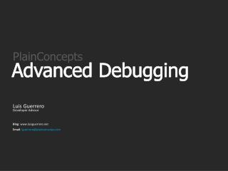 Advanced Debugging