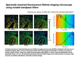 Spectrally-resolved fluorescence lifetime imaging microscope using tunable  bandpass  filters