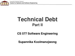 Technical Debt Part II