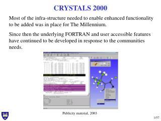 CRYSTALS 2000