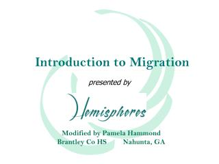 Introduction to Migration