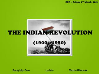 THE INDIAN REVOLUTION