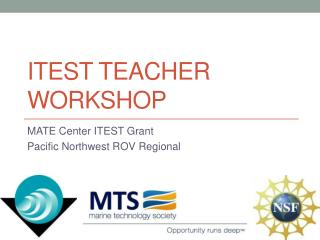 ITEST Teacher Workshop
