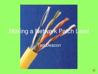 Making a Network Patch Lead