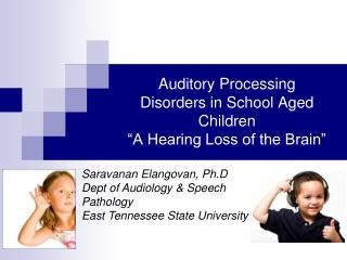 "Auditory Processing Disorders in School Aged Children ""A Hearing Loss of the Brain"""