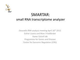 SMARTAR: small RNA  transcriptome  analyzer